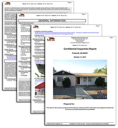 Prescott home inspection report sample